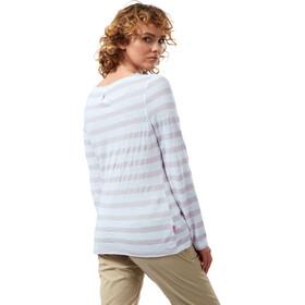 Craghoppers NosiLife Erin Longsleeved Shirt Women, wit/beige